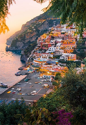 Campania and Naples are accessible: amalfi_sunset_pixeles_michael-block