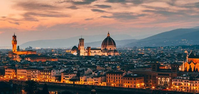 Firenze city break accessibile - Panorama notturno