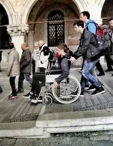 Accessible Venice for All - Accessible bridge by wheelchair